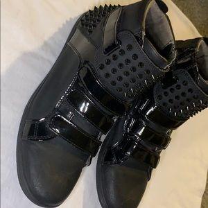 Aldo Black Spiked Men Shoes